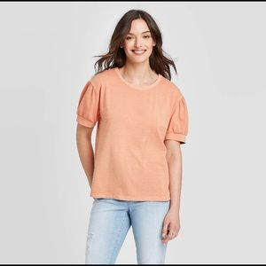 NWT Universal Thread Short Puff Sleeve T-Shirt, XL